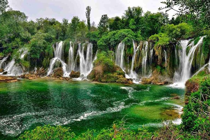The gorgeous Kravice waterfalls are a perfect way to relax and enjoy a refreshing day while in Bosnia and Herzegovina. Take the day to swim and have a great experience! This tour departs regularly; you may stay the entire day or only half a day. The Kravice waterfalls are located in Ljubuski, only 30 minutes away from the beautiful city of Mostar. Here you will also find some great local cuisines at nearby restaurants and grills. A perfect activity whether you are traveling with your family or looking to meet locals.<br>