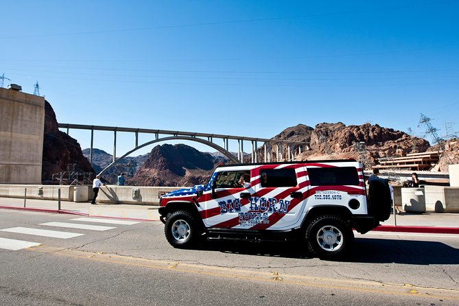See the Hoover Dam in style aboard a Hummer H2. This is a fun narrated tour. Includes the visitor center and ample time to explore Hoover Dam as you walk across the top of this mighty structure. Chilled bottled water is included.