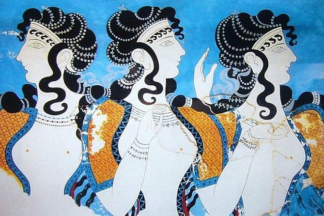 Visit Knossos, discover the advanced and sophisticated 4000 year old Civilization of Crete. Meet the Minoans, see the Palace of Knossos with its Labyrinth and splendid wall paintings. <br><br>Next stop an authentic village nearby, wine tasting, also tasting local products (olive oil, honey, herbs). <br><br>Heraklion city tour, explore the Historical city center of Heraklion and Capital of Crete! The 7th labor of Hercules was performed here, the birthplace of El Greco and Nikos Kazantzakis.