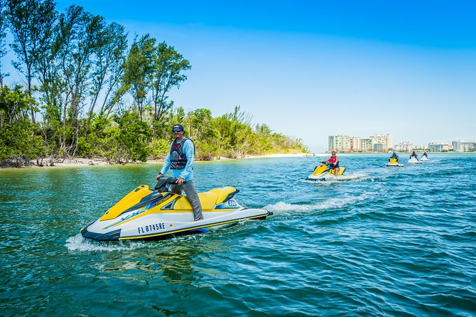 On this guided Jet Ski Tour you will be taken deep into the Ten Thousand Islands, where no boat or paddle can take you. We guarantee you will see dolphins during the tour. Our experienced local guides will find different points of interest such as Cape Romano along the 30 mile route.