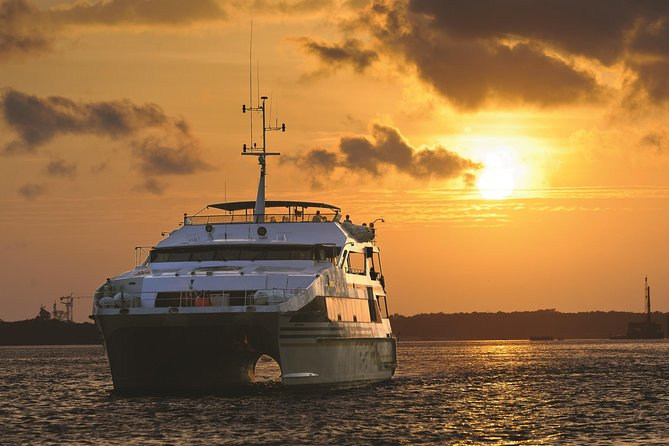 There's no better way to spend a tropical evening in Bali than on Bali Hai's Sunset Dinner Cruise.<br><br>Watch the colors of the sky change from just a hint of a colour to shades of deeper orange, purple and red while you cruise along the harbor sipping a drink on the open-air top deck of the Bali Hai II. Enjoy the sunset usually only seen on beautiful pictures. This time it is you making the magnificent photographs and memories that will last a lifetime.<br><br>Our Bali Hai Sunset Dinner Cruise is suitable for the whole family so bring the kids along to enjoy the party.
