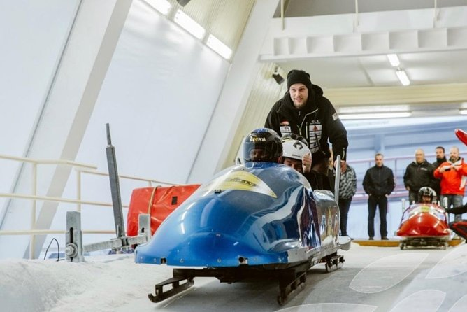 Have you ever tried Bobsleigh during the summer?<br><br>That's right, you don't need any ice to do so, and this activity is available all over the year! Safe technology and fast instructions will allow you to reach the speed up to 80 km/h (50 mph) on your first turn!<br><br>There is no massive difference between summer and winter bobsleigh: same track, same principle, although your bob will be on the wheels! Three of you will fit in one bob together with our qualified driver! Ready? Steady? GO!<br><br>For more information about the winter bobsleigh (October-March), please contact us <br><br>directly.