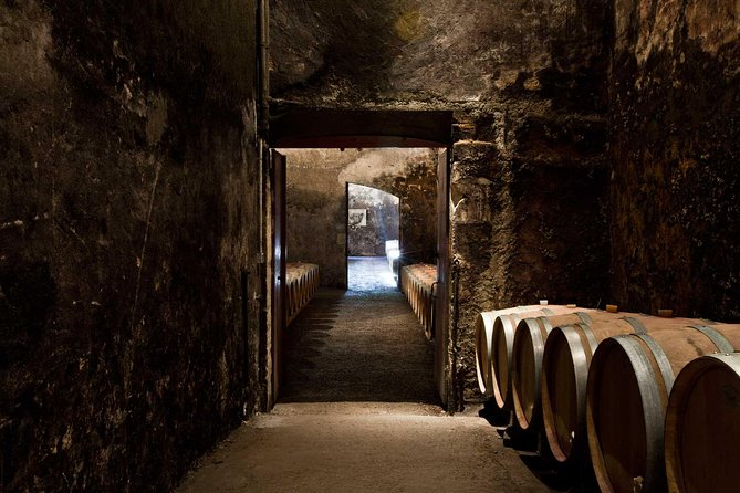 Visit a fascinating 18th-century château and its unique underground cellars. Taste 4 of its fine wines paired with local cheeses and dried fruits.<br>
