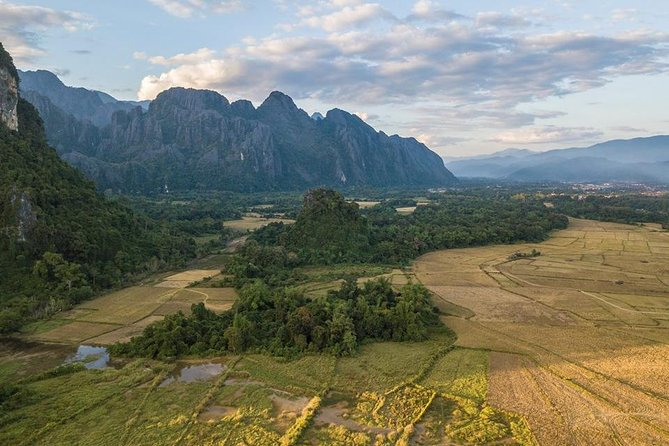 Vangvieng is not large town, but this town is famous and know well from foreigner and this town is suitable for relax on holiday, vangvieng located in Vientiane province take the road 13th north road from Vientiane to luangprabang, vangvieng is the town surround by natural and limestone cliffs, and the top of this town is nam song river past middle of town which this river is clean and clear. <br><br>08:30 Depart from your hotel and trek past rice field <br><br>09:00 arrive pha poak and start trek to the top of mountain<br><br>10: 30 phoukham cave and Blue lagoon<br><br>11:30 have lunch <br><br>13:30 take a minivan to pha ngern view point <br><br>14:00 Start trek to view point<br><br>16:30 transfer to you hotel and end of service<br><br>Included<br><br>1. Transfer<br><br>2. English-speaking guide<br><br>3. Lunch<br><br>4. Entrance Ticket<br><br>Excluded<br><br>1. Gratuities (optional)<br><br>2. Personal expenses<br><br>3. Other services not mentioned above<br>