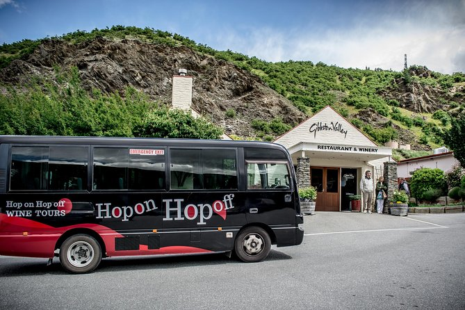 Come and experience the original Hop on Hop off Wine & Beer tour at the lowest price guaranteed.<br><br>Maximum of 8 travellers per group unless otherwise agreed.<br><br>Experience the best of both worlds with a day of craft beer and wine tastings at some of Central Otago's best-hidden breweries, wineries and eateries.<br><br>Our knowledgeable drivers will ensure an enjoyable day out with fantastic commentary along the way to both educate and entertain.<br><br>If you're not a drinker then there is still plenty on offer with a fantastic range of other activities such as jet boating, bungy jumping, ten pin bowling not to mention all the amazing food to be sampled. <br>• Hop-on Hop-off Wine Tour in Queenstown, Gibbston Valley, Arrowtown and more <br>• Great way to go wine tasting without a car or designated driver<br><br>.Choice of a half-day afternoon or full-day ticket<br>• Flexibility to customize your itinerary to your own preferences<br>• The bus goes every 45 min to each stop