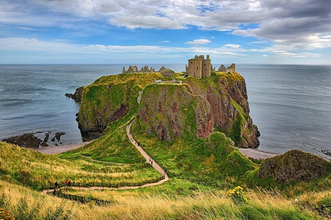 This is a private tour for your group only. Aberdeenshire has many treasures to offer and we will take you on a private tour to areas that are as stunning as they are interesting, chosen from the tour details section below. <br><br>A suggested itinerary could be:<br><br>• Old Aberdeen - See fascinating medieval history <br>• Dunnottar Castle - one of the worlds most iconic castles,<br>• Crathes Castle - a 16th century castle on Deeside with amazing gardens<br>• Royal Lochnagar Distillery - the famous malt from the grounds of Balmoral Castle<br><br>You can choose your own itinerary. <br><br>Time Exposure Travel are members of ABTOT (No.5419) which provides protection for customers' prepayments.<br><br>Pick up and drop off is from your Hotel, Airport, Train Station or Cruise Ship<br><br>