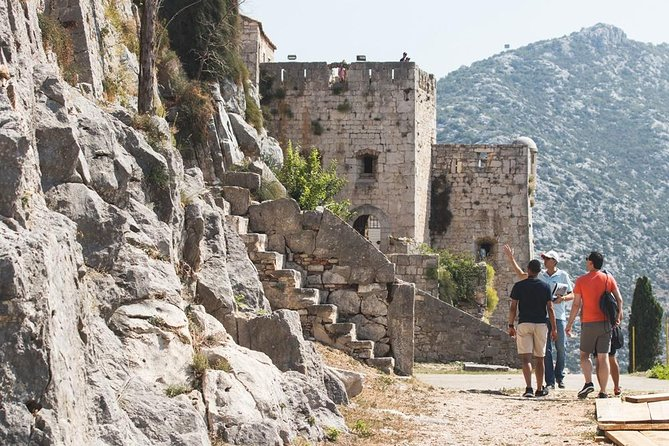 Get an insider's view of the HBO show 'Game of Thrones' by booking this entertaining 3.5-hour guided walking tour in Split. Get a behind-the-scenes look with your local guide, learning about the spots in the fictional city of Meereen and the fortress of Klis. End up at Diocletian's Palace, located smack in the center of Split. Learn fun facts about the show as well as some juicy medieval gossip. Highlights 3.5-hour tour of Split's Game of Thrones filming locations Visit the local sights featured in the HBO TV series Game of Thrones with a local guide Hear insider gossip about the series, based on George Martin's A Song of Ice and Fire novels See Klis Fortress where Daenerys Targaryen launched an attack on the mountaintop city of Meereen Explore Diocletian's Palace, where the slaves conspired with the Unsullied Army to overthrow the masters This tour cannot be booked anywhere else — don't miss out on this unforgettable experience.