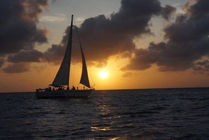 "Pure romance, relax, sail and enjoying a beautiful sunset, like only Bonaire can offer. <br><br>Perhaps the most pleasant moment of the day. <br><br>If you are lucky you will see ""The green flash"". <br><br>On board you will pampered with Mojito, open bar, and tapas made by owner and former chef Wim."