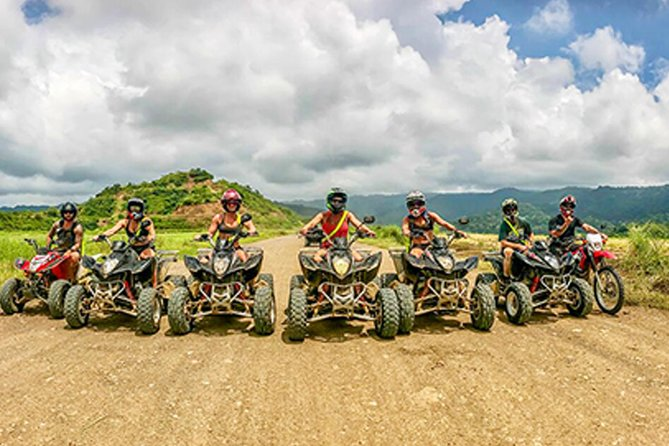 """Rev up and experience the energy of our ATV Tour in Jaco Costa Rica for yourself, riding though the forest for 1.5 hours until you get to """"El Encanto waterfall"""" where your gonna get WET and WILD rappelling our 180 feet waterfall in true Pura Vida fashion! and then our canopy zip-line tour in Jaco, Costa Rica is perfect for singles, couples, the family, or a large group – offering views unlike any other zipline tour."""