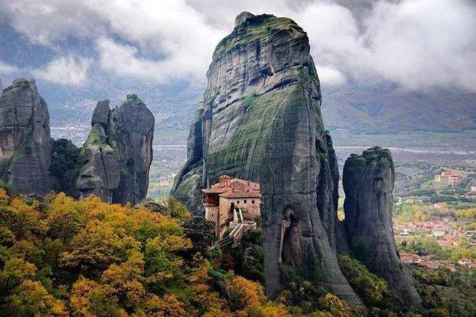 """Meteora were named after St. Athanasios the Meteority, proprietor of the Big Meteorou Church. Since 1988, the monasteries of Meteora have a position on the UNESCO's global heritage monuments catalogue. Built on the top of the rocks, in a high that reaches the 400 meters, Meteora are considered to be one of the greatest creations of nature, and one of the most important monuments of the Orthodoxy.<br><br>Today, only 7 of the historical monasteries are being used, 6 from which are open to the public, which are:<br>• The Anapausa Monastery<br>• The Rusanu Monastery<br>• The """"Big Meteoro"""" Monastery<br>• The Varlaam Monastery<br>• The Agia Triada Monastery<br>• The Agios Stefanos Monastery"""