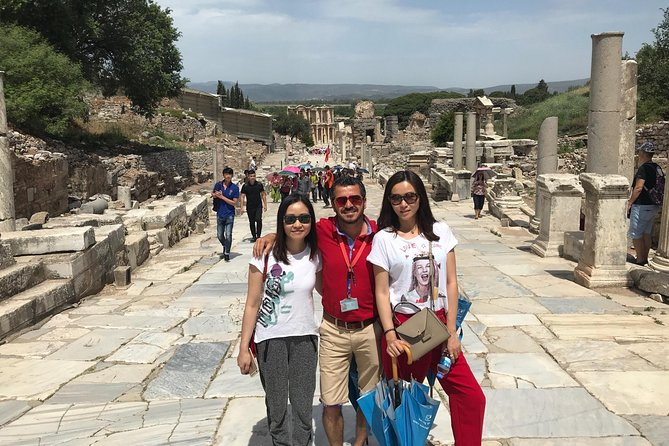 THIS IS A PRIVATE TOUR ONLY FOR YOUR PARTY / Do not lose this opportunity that may come once in your life time. Discover all the highlights of Ephesus with well-educated, licensed, professional local tour guide. It will be a private tour only for you and your party. Visit one of the UNESCO listed place that is Ancient City of Ephesus, walk on the streets where Apostle Paul and John walked, see the Grand Theatre of Ephesus that St. Paul preached to Ephesians, take excellent pictures in front of Celsus Library,explore Roman Baths,Temple of Hadrian, Public Toilets, Marble Street, Agora, etc. See superb preserved Terrace Houses that are for the rich people during the Roman time in Ephesus, famous with unique mosaic and frescos. Feel very peaceful atmosphere of shrine that is the most important Biblical Site in Turkey, House of the Virgin Mary. Upon to your request, you will have a chance for a local lunch in a local restaurant.