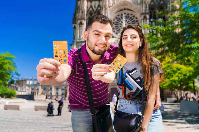 Save money during your visit to Reims thanks to the Reims City Pass. Choose your type of pass from 1, 2 or 3 days and enjoy free access to the must-see monuments as well as on public transport. Get also up to 50% discount on several other attractions such as the visit of famous Champagne cellars.