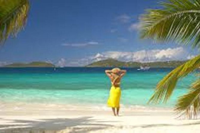 FULL LUNCH PACKAGETO THE BEACH <br><br>Cane Garden Bay Beach<br><br>Tortola Beach Lunch Package- The solution to your transportation needs! This transfer is ideal for people who want to get ahead and not waste time waiting for a taxi. Upon arrival, we will meet you at the pier and transport you to the beach of your choice where you can get a jump start on enjoying your day in paradise. Book with us now for the best beach transfer on island. There's no need to wait. We want you to have access to the beautiful blue waters and white sand beaches that await you.<br><br>Tortola Beach Lunch -is the best decision for people wanting a direct connection to the beach. Be one of the first to reach Cane Garden Bay Beach, Package includes cruise pier pickup, Lunch on the beach, soft drink and bottle water each customer, beach chairs, free wifi..
