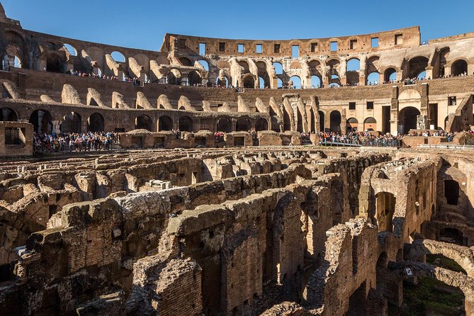 Get a unique gladiator's-eye view of Rome's iconic Colosseum, in a Skip-the-Line tour that delves backstage into areas that are normally off-limits to the public. Explore the Underground, where gladiators prepared themselves for battle, and walk in their footsteps on a partially reconstructed arena stage. All this, plus the Palatine Hill and Roman Forum: all the most significant surviving remnants of Ancient Rome, in one fascinating tour.