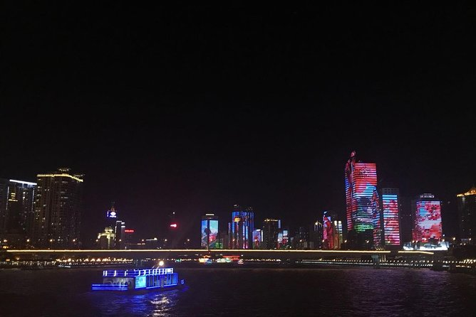 Night cruising on the Pearl River to enjoy the fabulous lights is one of the must-do things in Guangzhou. You can pre-book the cruise ticket on-line easily and redeem it when you get to the dock. Please check your email or cell phone for the redemption code message that is sent to you at noon on the sailing day, and gmail does not work in China, which you can redeem the cruise ticket from Blue Dolphin ticket office at Dashatou Wharf. You can not redeem the ticket without the code message, and everyone MUST bring the passport. The default departure time is 7pm unless you required other departure. We could not refund you if you missed the cruise, please contact local operator if you have not yet received the redemption code before 5pm on the sailing date. The staff speak very limited English at the wharf and cruise.