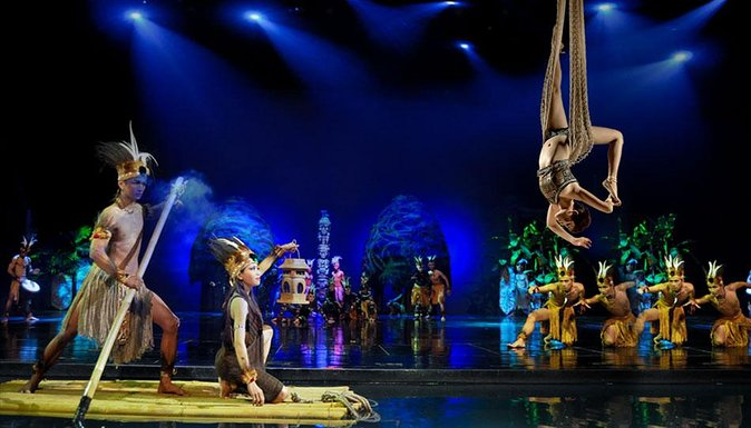 Watch a performance of the Devdan Show at Bali's Nusa Dua Theatre. This Indonesian cultural show is a 90-minute extravaganza that combines acrobatic dances with the story of the journey of two children who learn about the magic and heritage of the Indonesian archipelago. Select a category of seating when booking. Hotel transport is provided from select resort areas.