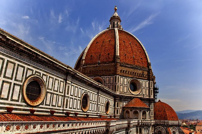 Skip the entrance lines and climb to the top of Brunelleschi's Dome with an expert guide! Majestically dominating the city skyline, the terracotta dome of Basilica di Santa Maria del Fiore (or Florence Duomo, as it's more commonly known) is easily Florence's most iconic attraction. Experience this masterpiece of architectural genius.