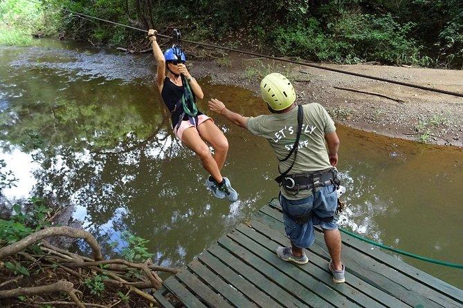 Excursión en tirolina por la selva desde Tamarindo: tirolina, Puente colgante., Tamarindo, COSTA RICA