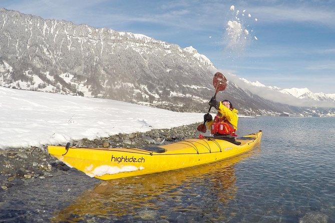 Winter Kayak Tour of the Turquoise Lake Brienz, Interlaken, SUIZA