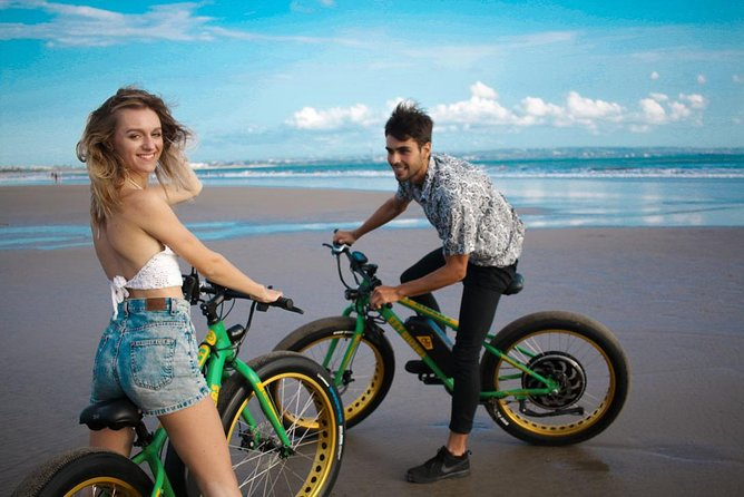 Electric Powered Beach Bike ride, Environmental Surrounding, Cliffs, Beaches, Sea Side, Water Blow Rock Cliff, Beach Cruising, Cultural Monkey Temple Explanation, Relatively smooth terrain, with some challenging hills. <br><br>OPTIONAL Highly Recommended - 1 Hour Aquamedic Spa Treatment, only 2 that exist on the entire island of Bali.