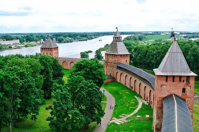 """This tour combines a standard city tour to Veliky Novgorod with visit to it's suburbs and gives you an opportunity to see evreything in one day.<br><br>The tour starts in the city with visiting to it's heart - The Kremlin, the main Cathedral of St.Sophia (the monument of XI century) with it's miracle making icon, Yaroslav's Court (Yaroslavovo Dvorische) and the old Market-place. Then you will be taken to the Yuriev Monastery (the oldest active men monastery in Russia, founded in 1030) and an open-air museum of wooden architecture """"Vitoslavlitsi"""". You can also choose a tour with the dinner in the restaurant near the monastery (""""Yurievskoe podvorie"""") or in the restaurant """"Detinets"""" with traditional Russian atmosphere.<br><br>• Guaranteed skip-the-line entrance"""