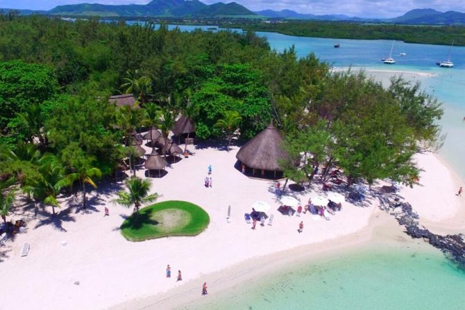 """The uninhabited island of Ile Aux Cerfs is one of the best-known tourist attractions of Mauritius, with its miles of beaches, new championship golf course, a handful of restaurants and copious water sports facilities. No wonder that it is best known as """"Paradise Island""""."""