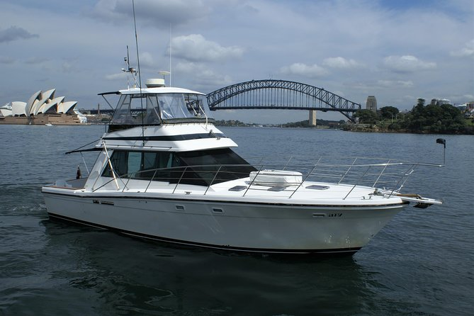 Enjoy a 4 hour skippered charter on Sydney Harbour in your very own privately chartered Riviera Cruiser. Departing from your choice of city wharves we will cruise past some amazing Australian icons. Stopping for an on board lunch at one of Sydney's pristine inshore beaches where our guest will enjoy swimming, snorkeling, sun baking, and relaxing. This charter is for 4 hours and is BYO. We can discuss an itinerary that suits your needs. Ideal for family get togethers, small corporate groups or for those that just want a day on the harbour.<br> • Skipper and Crew Included <br> • BBQ for guest use <br> • Choice of pick up locations <br> • Luxury Classic boat, with plenty of room for every one. <br> • Amazing views of Sydney Harbour <br> • Local experience, to take you to the best spots on the harbour