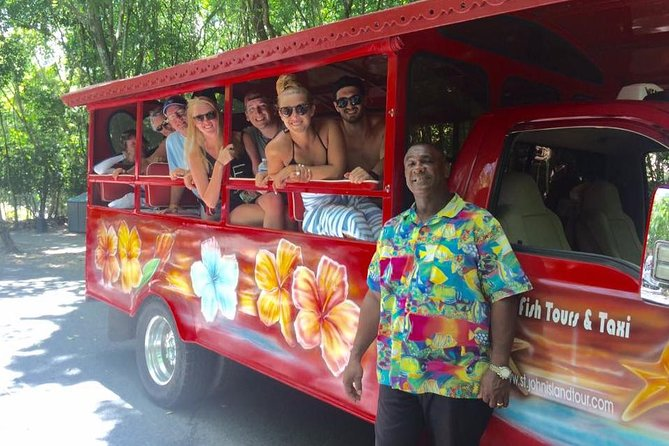 Your Private Four Hour Tour offers the best of both worlds. You get the history of St. John, visit our historical sites and also get to enjoy, swim, sunbath and or snorkel at two of our most beautiful beaches. Our guest get to interact with their driver/tour guide. There will be refreshing drinks for the duration of the tour.