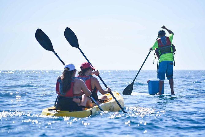 Kayak con fondo transparente y snorkel en el Arco y Playa del Amor, Los Cabos Baja Califronia Sur., Los Cabos, MEXICO