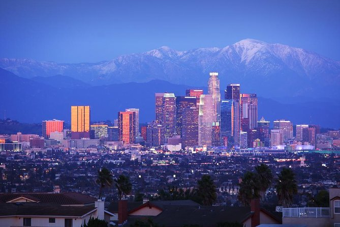 Discover the best that the city has to offer on our guided Grand City Tour of Los Angeles! For over 31 years, we've helped visitors see iconic sights like the Hollywood Sign and Rodeo Drive from the comfort of a private minibus driven by our friendly, experienced tour guides. With over 31 years of curating tours in Los Angeles, we have a pulse on what tourists want to see for a memorable vacation. On this Grand City Tour of Los Angeles, you will visit highlights like Downtown Los Angeles (City Center) and the Griffith Park Observatory -- where you will see the Hollywood Sign and a stunning view of Los Angeles. Then, you'll visit Hollywood Blvd, the Sunset Strip, and Beverly Hills where you will see select Celebrity Stars Homes. Finally, it's off to lunch at the Original farmers market.