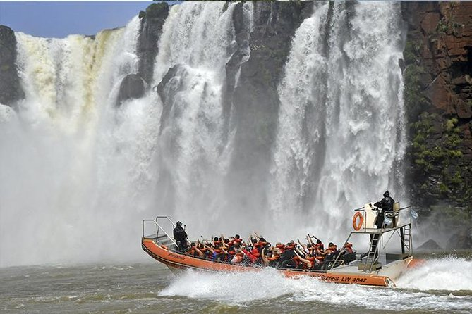 Embark on this 8-hour adventure to the Argentinean Falls of Iguazu National Park. Tour the Devil's Throat Circuit, Upper Circuit, and Boat Ride Great Adventure with small-group Tour of no more than 15 people. Enjoy a boat ride where you will cruise along the falls and even get wet at the end.