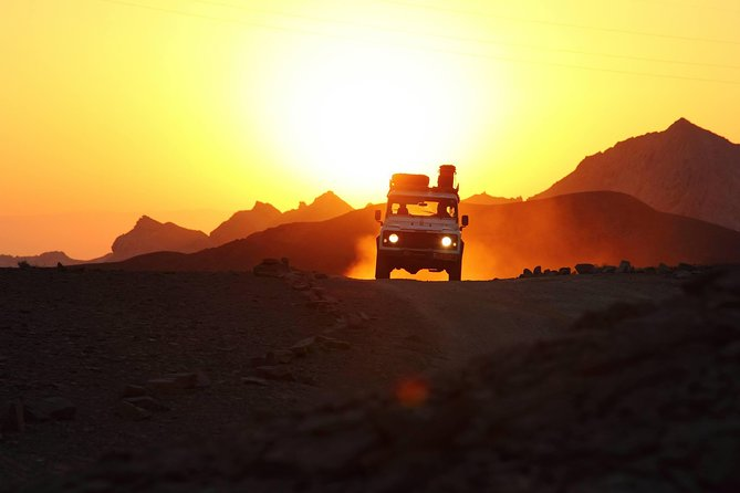 Two hour guided jeep tour in to and around the Ramon crater, Sde Boker, Israel