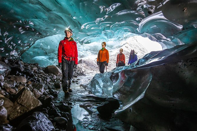 Ice caves are the hidden gems inside Iceland's stunning glaciers. During this tour, your guide will lead you on a glacier walk and into an ice cave that features glistening walls, vivid blue colors & a tranquil environment. A once in a lifetime opportunity you should not miss when in Iceland. <br>