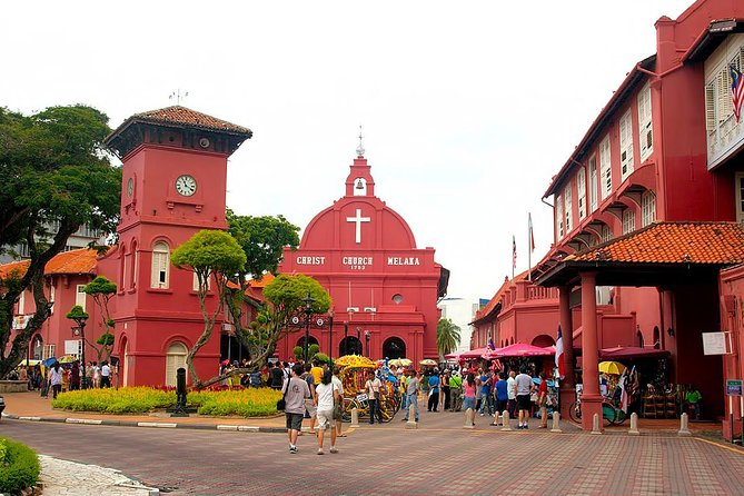 Expect a 4-6-hour tour of Guided Malacca Shore Excursions. Visit the famous landmarks & experience a traditional trishaw ride or the river cruise, Dutch Square complex, St. Paul's church ruins, Porta de Santiago, Old Malacca quarters at Jonker, Heeren & Temple street and eat a wonderful finger food lunch at Baba & Nyonya Restaurant. Enjoy the stunning architecture of Malacca, a city full of culture and history.