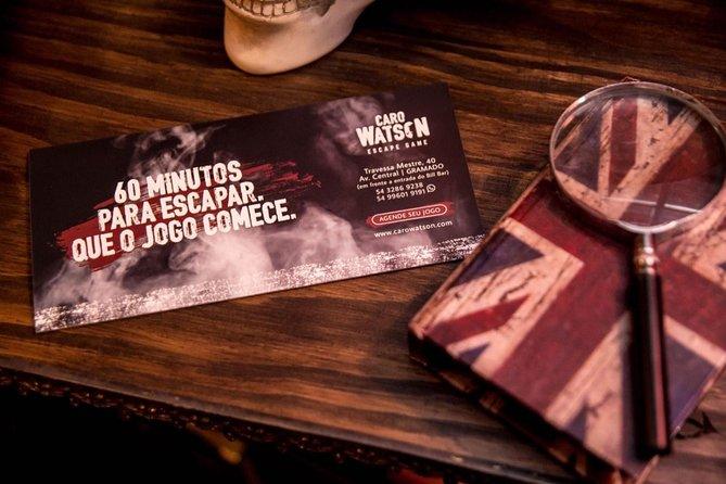 Caro Watson Escape Game Admission Ticket, Gramado, BRASIL