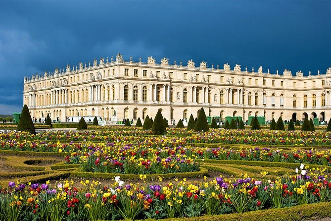 The Palace of Versailles was the principal royal residence of France from 1682, under Louis XIV, until the start of the French Revolution in 1789, under Louis XVI. It is located in the department of Yvelines, in the region of Île-de-France, about 20 kilometres (12 miles) <br><br>The palace is now a Monument historique and UNESCO World Heritage site, notable especially for the ceremonial Hall of Mirrors, the jewel-like Royal Opera, and the royal apartments; for the more intimate royal residences, the Grand Trianon and Petit Trianon located within the park; the small rustic Hameau (Hamlet) created for Marie Antoinette restored in 2018 ; and the vast Gardens of Versailles with fountains, canals, and geometric flower beds and groves, laid out by André le Nôtre.