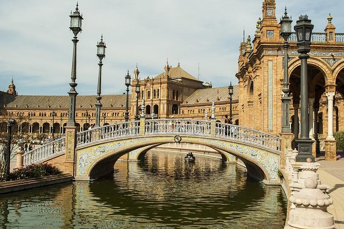 """You will be picked up from the Cádiz port, or your hotel, and taken on this private shore excursion of Sevilla. You will then be able to enjoy and admire the great architecture and sights of Seville, as well as most important and well-known monuments. <br><br>Your guide will meet you in Seville once you arrive to Seville. You will leave Cadiz with your driver. The driver speaks extremely basic English.<br><br>Visit monuments and sights such as: Santa Cruz, the former Jewish Quarter, go for some shopping in the area, Plaza de España, Ramón Sanchez Pijuan Football Stadium, Plaza Nova, Seville Cathedral, or """"The Cathedral of Saint Mary of the See"""", La Giralda, the bell tower of the Seville Cathedral, The Alcázar of Seville, the royal palace and the Torre del Oro, or """"Tower of Gold"""". <br><br>When the tour is finished, your tour guide will leave you with your driver and you will go towards Cadiz with your vehicle will the diver will take you back to the cruise port in Cádiz or your chosen hotel."""