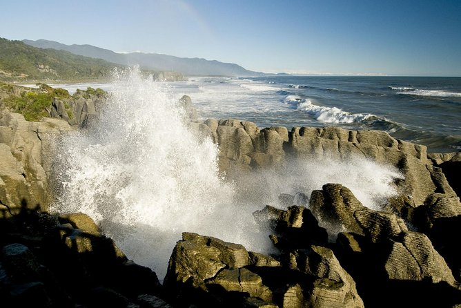 Tour with our local knowledgeable guides to one of the World's Top 10 Coastal Scenic drives and visit the famous Punakaiki Blow Holes and Pancake Rocks. One of the regions key icons and a must do when visiting the South Island. <br>
