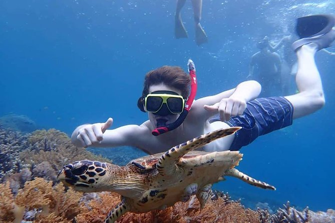 Enjoy a day trip from Bali Island to Nusa Lembongan and Nusa Penida. You will go to three points in Nusa Lembongan and Nusa Penida such as Manta Bay, Crystal Bay, Toyapakeh, Gamat Bay, Mangrove Point, etc. The trip gives you a chance to see the majestic Manta Rays too! Hotel transfers, Boat transfers, Buffet lunch are included. And you can enjoy Lembongan Island tour to three spots like Panorama, Dream Beach and Devil's Tearsbefore going back to Sanur.
