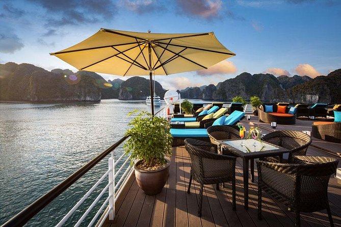 6 stars cruise 3d-2n: biking,BBQ, golf course,cave,transfer, meals,kayak,pool, Halong Bay, VIETNAME