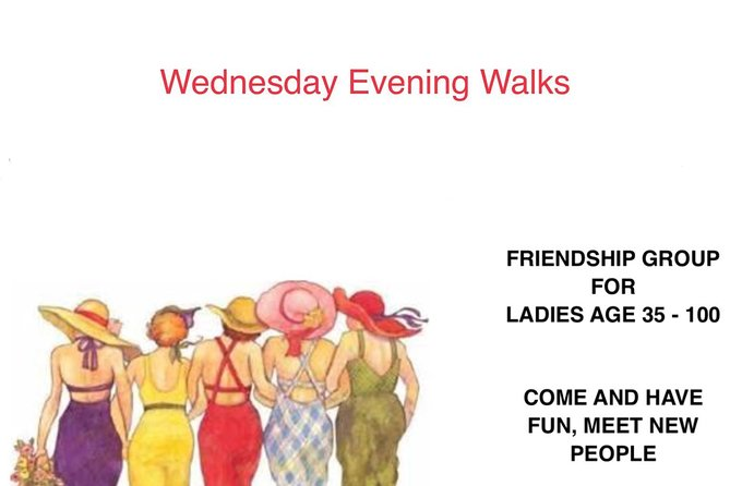 Ladies Join Dumfries Get Together on 27th February for a brisk walk free<br><br>Starting at Dock Park Car Park 7pm till 9pm<br><br>Stopping for a refreshment along the way.