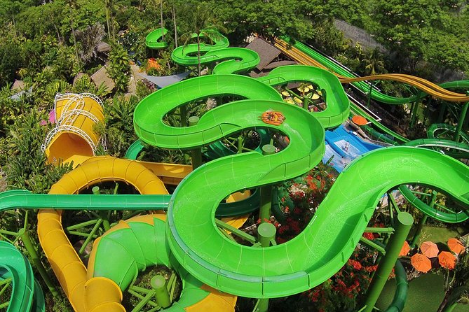 Bali Waterboom with 2 Hour Spa and Romantic Jimbaran Dinner Is popular Bali full day tours packages combination between water slides activities in Kuta with 2 Hour Spa Treatment and delicious seafood dinner in Jimbaran Beach.