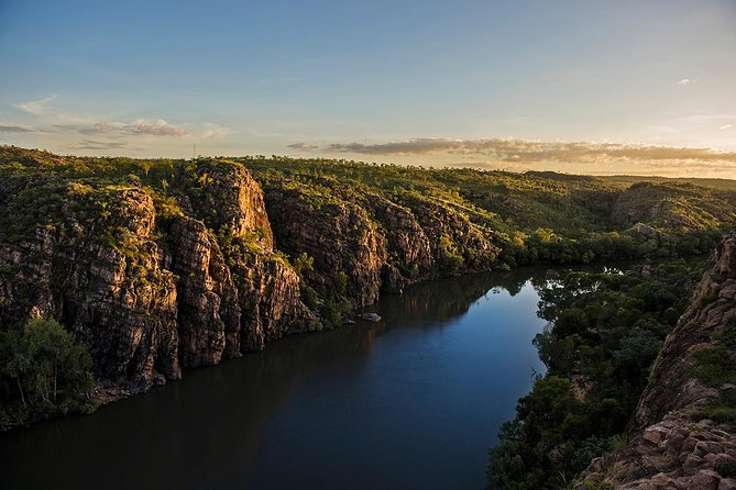 The Katherine Day Tripper is the perfect one day visit to Nitmiluk (Katherine) Gorge from Darwin. <br><br>This tour includes over 1.5 hours of scenic flights, the MUST DO Nitmiluk (Katherine) Gorge Cruise, lunch will then be provided at the Sugar Bag Cafe, a visit to an Arts and Cultural Centre and still be back in Darwin for late afternoon and evening activities.<br><br>This iconic tour is ideal for the time poor due to the long distances involved. The bonus of aircraft travel is not just limited to saving time though, it's really about the 1.5 hours of extraordinary views of the Adelaide and Mary Rivers, Yellow Water Billabong, stunning Arnhem Land Plateau, Jim Jim and Twin falls (in the wet season), Katherine Gorge and so many other major sites! <br><br>With a guaranteed window seat on all our flights sit back and take in the majesty of Australia's largest National Park whilst absorbing the informative commentary.