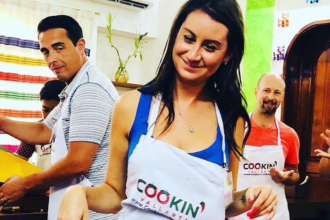 Ready to cook up (and eat) a feast of flavors? This cooking class in the home of a master chef introduces you to the cuisine of culturally rich Puerto Vallarta. Shop for produce at the local market, visit a tortilla factory and discover interesting facts about Mexico's culinary heritage.<br><br>Our Daily Menu: <br><br>Daily you will make: Tortillas, Salsas and Guacamole<br><br>Monday: Taco Feast: Al Pastor Pork, Beef Barbacoa, Chicken and Vegan Tacos, Jalapeños en Escabeche.<br><br>Tuesday: Chocolate Mole Enchiladas, Tamales, Poblano cream soup, all from scratch<br><br>Wednesday: SeaFood Catch of the Day, 3 different Ceviches, Shrimp in Chipotle sauce, Octopus or Fish Bbq.<br><br>Thursday: Albondigas (Mexican Style meat balls), Chiles Rellenos,<br><br>Friday: Green Mole from Oaxaca, (base of Pumpkin seed and Tomatillo sauce), Pozole, Carnitas and Tamales.<br><br>Learn how to make the Best Margaritas or Tequila & Mezcal Tasting session.<br><br>Great for cruise ship passengers.<br>We meet across the street of the cruise ship terminal