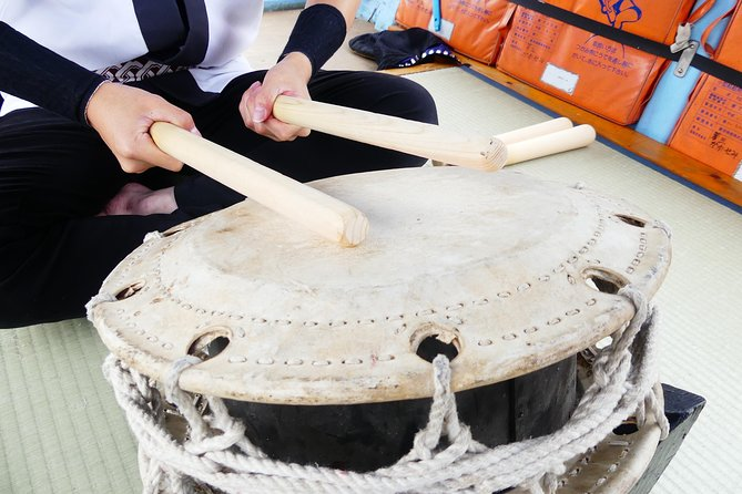 Japanese Taiko Drum Experience on the Boat (阿武隈ライン舟下り)Japan Experience, ,
