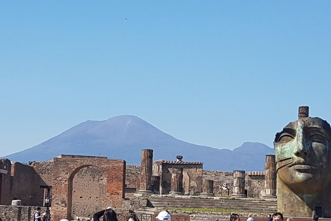 Spend a day discovering Pompeii and Amalfi on a Small Group max 6 people in a minivan deluxe with air conditioning from Rome. You'll travel south to the UNESCO listed ruins of ancient Pompeii. Walk with your professional guide in a small group max 12 people through the remnants of the city , frozen in time by a volcanic eruption, and then head to the Amalfi Coast. Lunch in Positano,Note: In low season (Nov - Mar), most of the businesses in Positano town close. During this time we will visit Amalfi town instead, another beautiful town of the Amalfi Coast, where you will have time for lunch ,shopping and Limoncello Tasting .