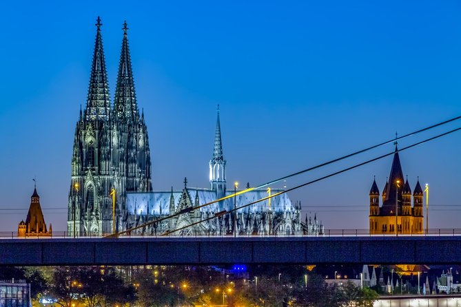 Visit the city of Cologne, which is the largest city of Germany, where you will perceive with your eyes, the famous landmarks:<br>-The tallest twin-spired Catholic cathedral which is also a renowned world heritage site.<br>-You will learn about the history of Germany's oldest city hall, dating 900 years old.<br>-Discover the history revealed by the ancient documents of the great St. Martin church.<br>-End your tour by visiting the historic Old Market Place of the city.<br><br>Tour timings are flexible and can be amended depending on availability.