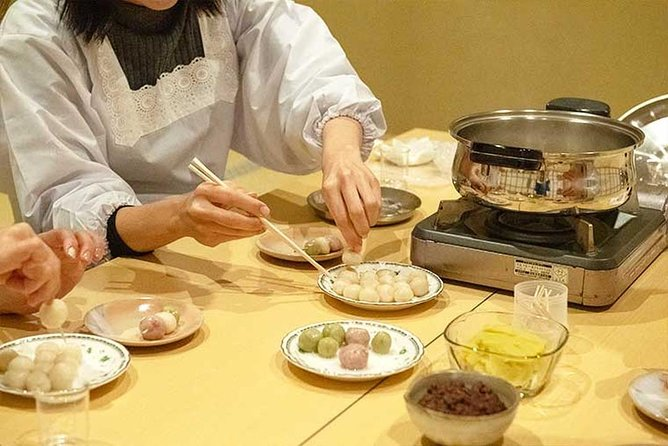 You're in for a fun and sweet time! Join this 1.5-hour class and learn how to make healthy and delicious Japanese sweets at a temple surrounded by nature in Kitakyushu City, Fukuoka. Dango, a ball-shaped sweet dumpling made of rice flour, is one of the most popular traditional Japanese sweets. During this class, you can make delicious dango using only plant-based ingredients with the step-by-step assistance of of a culinary expert specializing in organic sweets. At the end of class, savor the dango made by yourself with a bowl of Japanese tea. The temple is surrounded by rural landscape that will make you feel like you're in one of the Ghibli movies, perfect for someone who wants to spend quality time away from the hustle and bustle of the city.