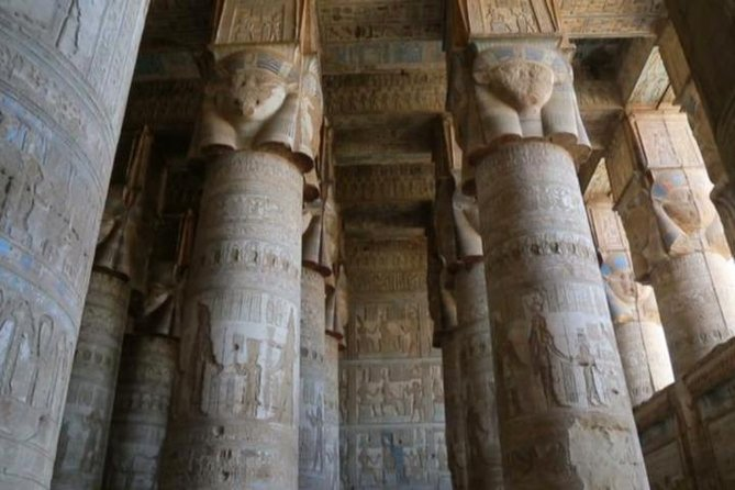 Drive north from Luxor for a day to see two of the most complete temples in Egypt. Abydos Temple is dedicated to the Ancient Egyptian god of the underworld. Temple of Hathor at Dendara may be the best preserved in Egypt with full color still visible on its walls.