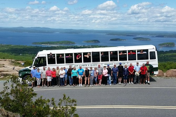 Our fully narrated bus tour will satisfy even the most info-hungry tour-goer! Featuring three stops within Acadia National Park, guests will learn about the history of Bar Harbor and Acadia, the geology, the wildlife, and much more, all while taking in the stunning ocean and mountain views. Tour stops include the summit of Cadillac Mountain (the highest point on the eastern seaboard), Thunder Hole (an oceanside stop), and Sieur De Monts Spring (Wild Gardens of Acadia).<br><br>Nature lovers, history buffs, photographers, or anyone wanting to get oriented with Mount Desert Island and Acadia National Park will appreciate the knowledge and experience of our tour guides. Just sit back, relax, and let us guide you through the human and natural history of this exceptional locale. Whether you are here for the day, or an extended period, there is no better way to start your visit!<br><br>Experience the wonder and beauty of Acadia National Park from mid-May through October. <br><br>Book your tour today!